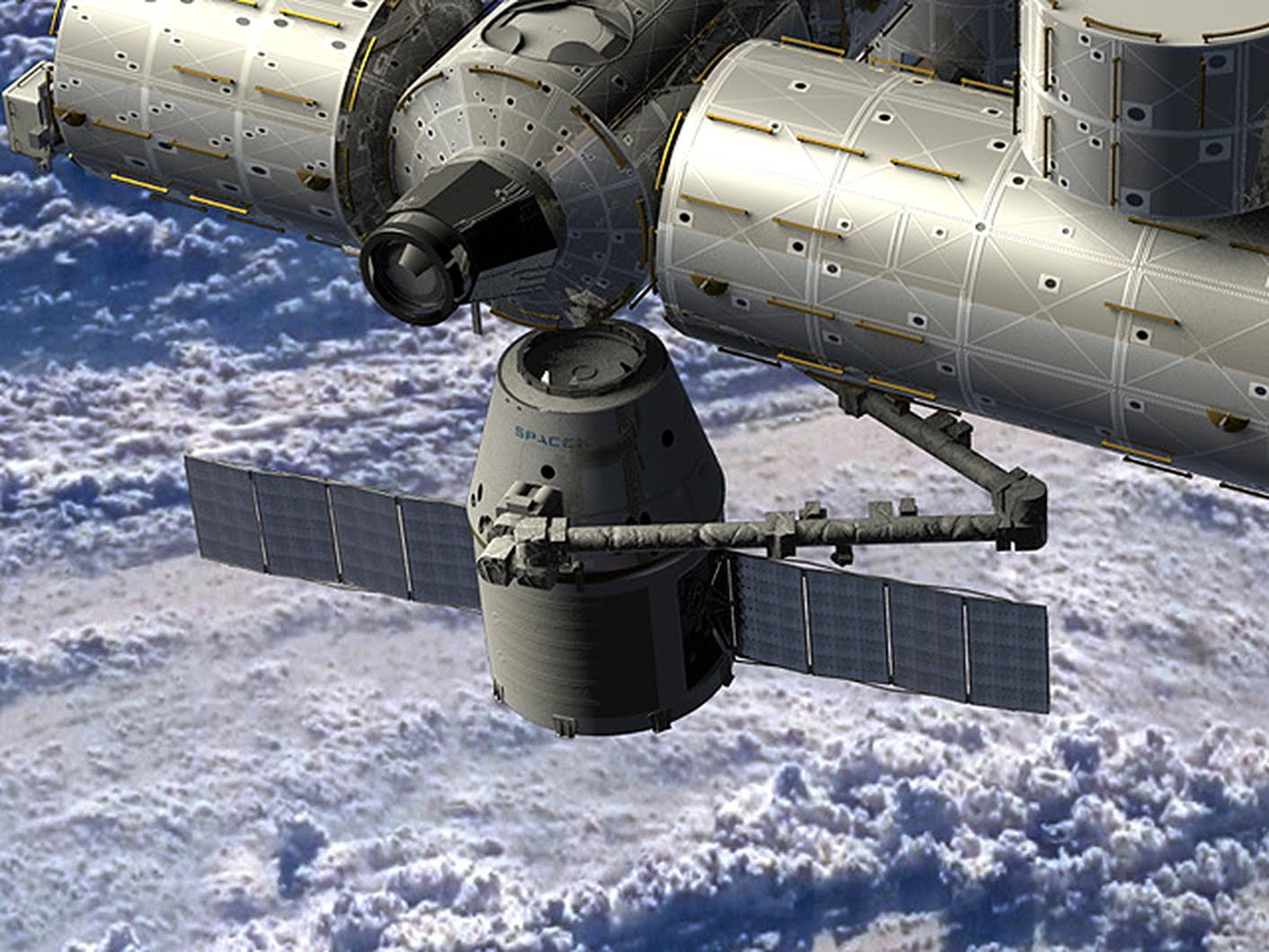 SpaceX Dragon spacecraft Public Domain Clip Art Photos and ...
