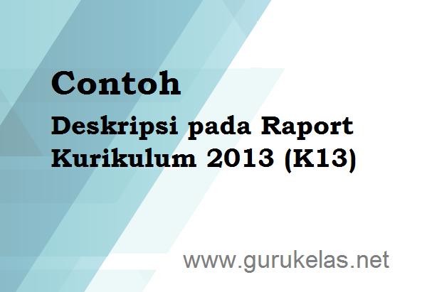 Contoh Deskripsi Pada Raport Kurikulum 2013 K13 Tentang Pendidikan
