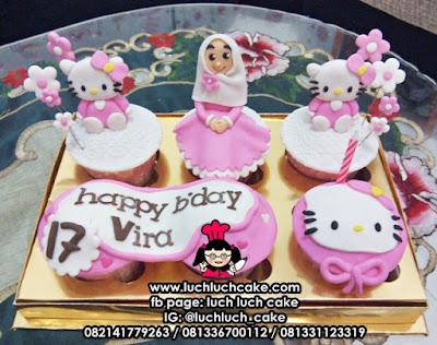 Cupcake Lucu Hello Kitty Pink