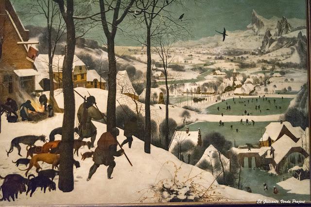 Pieter Bruegel, Cazadores en la Nieve - Kunsthistorisches Museum, Viena por El Guisante Verde Project