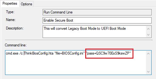 ThinkPad/ThinkCentre BIOS to UEFI Conversion using Configuration