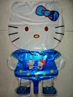 Balon Karakter Hello Kitty Biru Jumbo