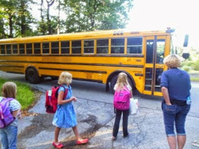 There is a cataclysmic event  that causes complete chaos on weekday mornings: it's called 'missing the school bus.'  {posted @ Unremarkable Files}