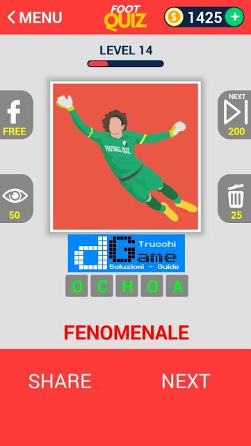 FootQuiz Calcio Quiz Football ( ATTO) soluzione livello 11-20