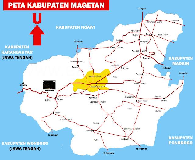 Gambar Peta Kabupaten Magetan Lengkap