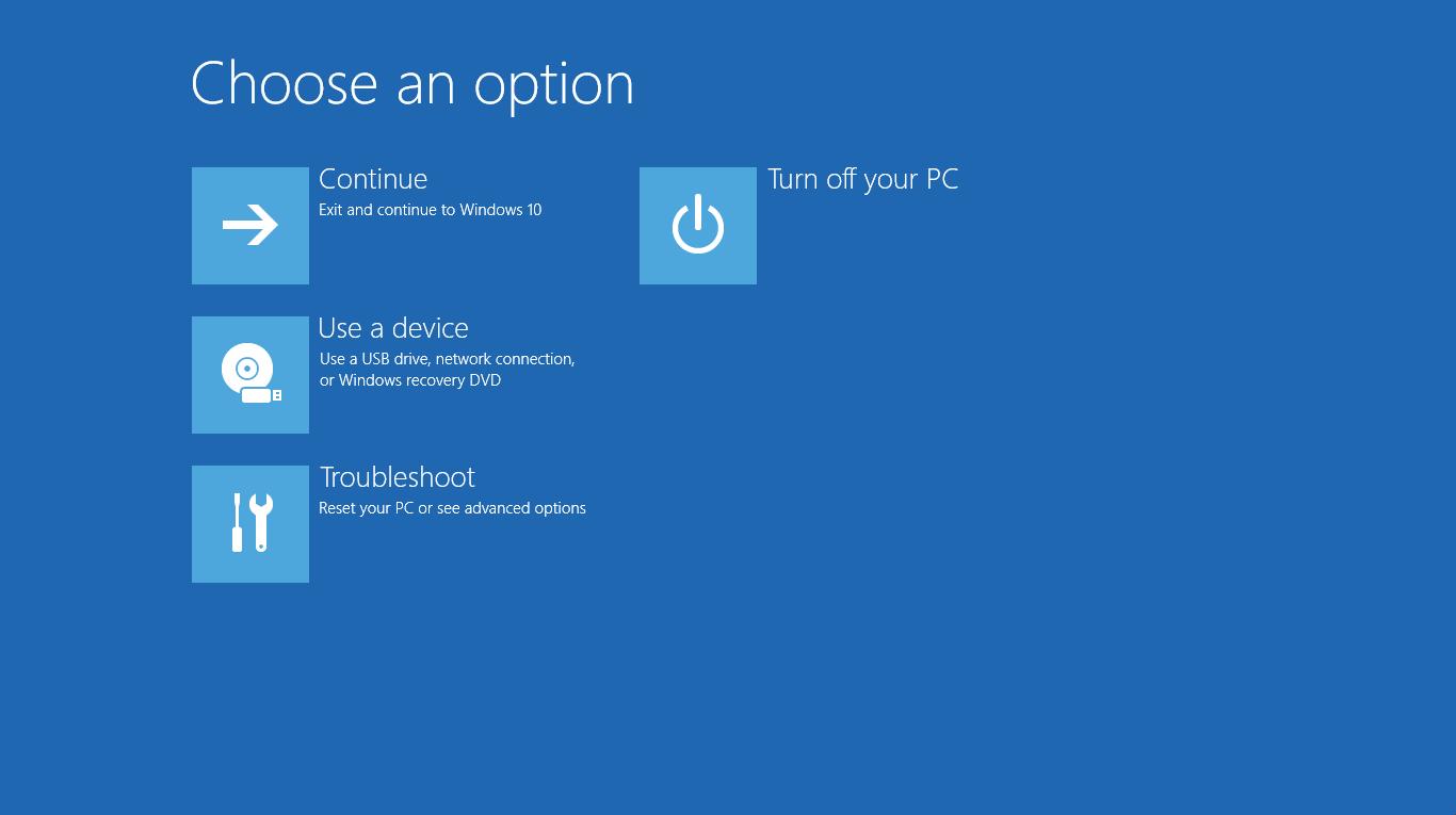 Giới thiệu về Windows Recovery Environment (WinRE) trên Windows 10 phiên bản 1607