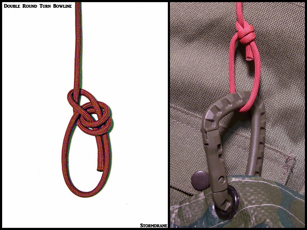 stormdrane\u0027s blog a few bowline knotsand pictured is an example of how i might use a bowline knot variation with paracord for edc (everyday carry) with a knife, flashlight, keychain,