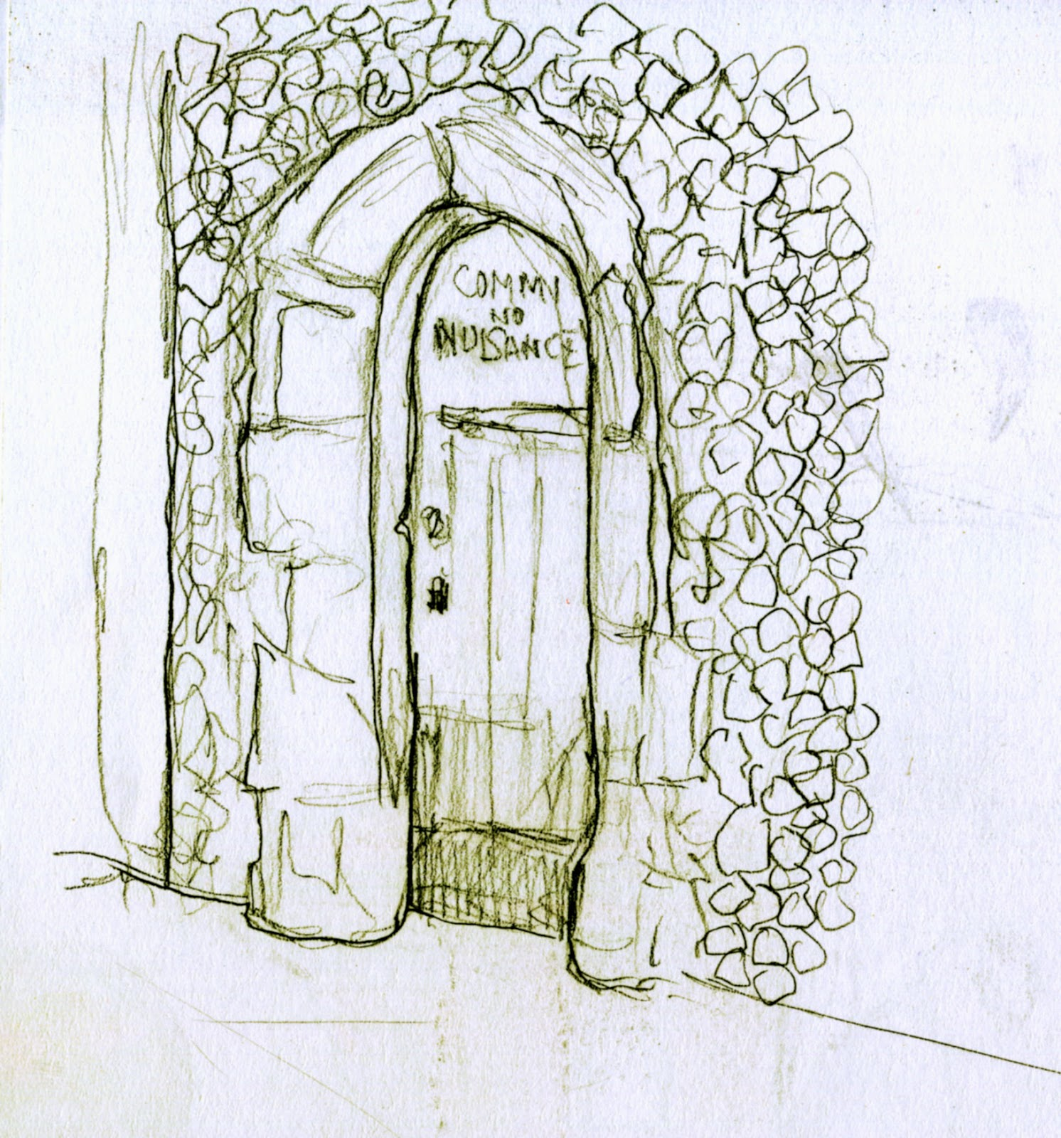 What to draw on the old door