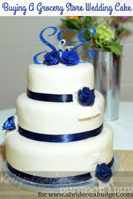 Want to save on your wedding cake? Consider buying a grocery store wedding cake. Learn about it at www.abrideonabudget.com.