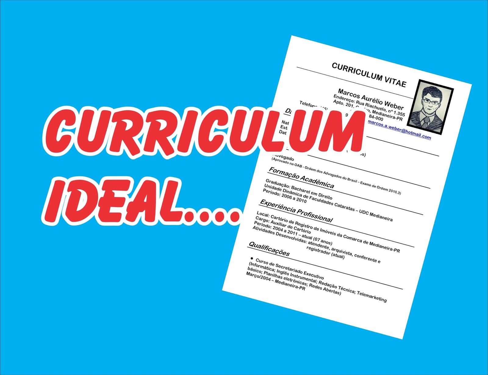 sendo assim compartilhando um modelo de estruturar do curriculum vitae valorizando as