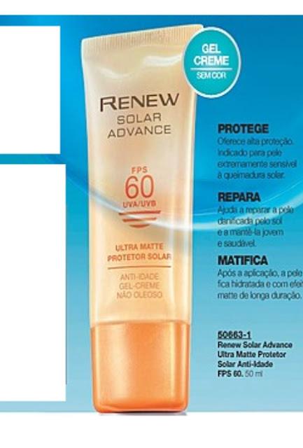 protetor solar facial avon renew fps 60
