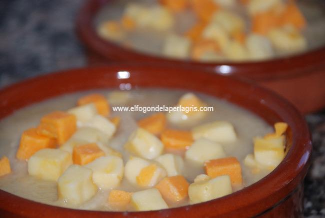 Colocar el queso para gratinar