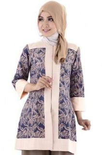 Model Batik Kombinasi Tunik
