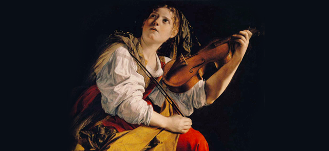 Orazio Gentileschi - Young Woman Playing a Violin