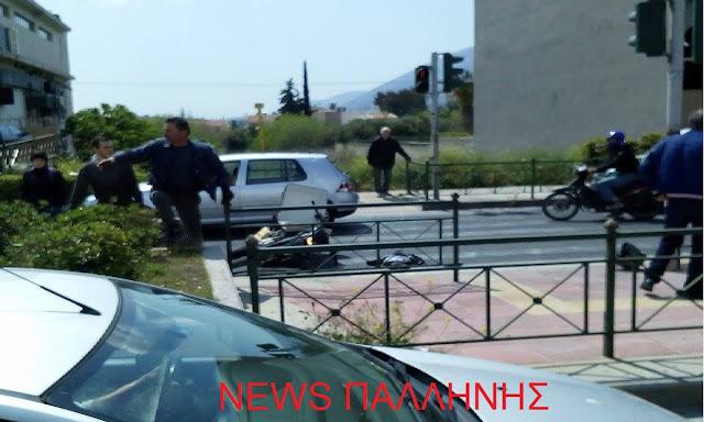 Τροχαίο στο Γέρακα με σοβαρά τραυματία ...... Με καθυστέρηση 45΄λεπτών ήρθε το Ε.Κ.Α.Β!..