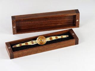 Small Handmade Walnut Wooden Jewelry Box