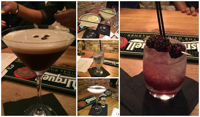Photograph of the Artigianos cocktails that we got to taste