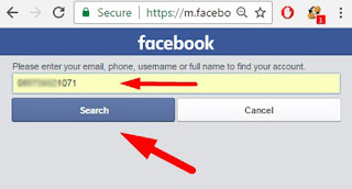Search for facebook friends with phone number