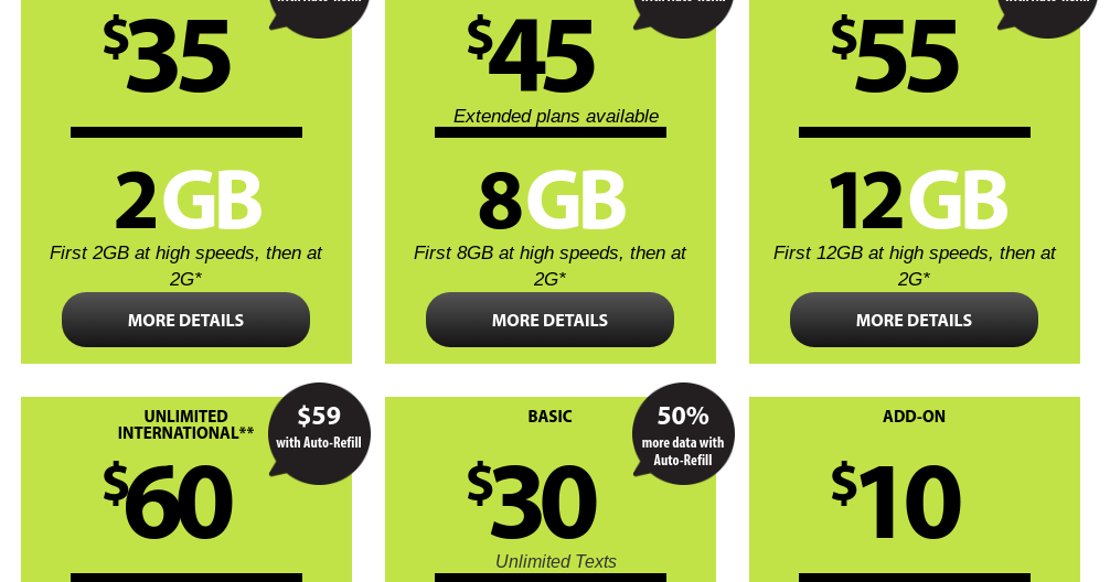 Unlimited Prepaid Phone Plans