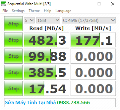 Quá trình đo tốc độ ổ cứng SSD