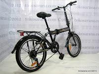 5 Sepeda Lipat Darson 6 Speed Shimano Rangka dengan Suspensi 20 Inci