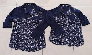 Jual Online Kemeja Adidas Pocket Navy Couple Murah Jakarta Bahan Katun Terbaru