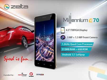 Zelta Millennium Q70 Smartphone