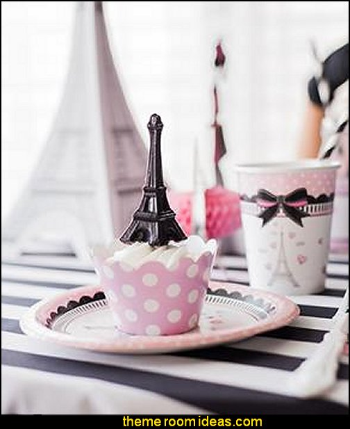 Party in Paris Ultimate Party Pack   Paris party decorations - Paris themed party supplies - Party in Paris Birthday Party Decorations  -  Pink Paris Party -  Paris party balloons - Eiffel Tower Favor Boxes -  French-themed celebration  - Pink Poodle Paris Theme Birthday Party