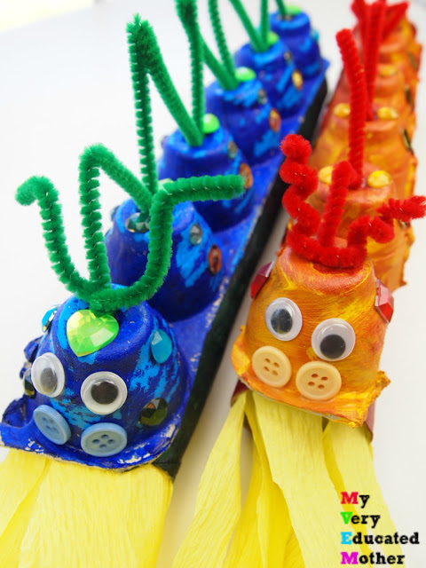 Kids Craft: Egg Carton Dragons