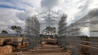 Artist creates a phantom basilica in Italy's Puglia