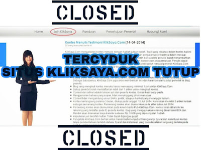 situs klik saya eror dan di tutup