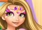 Rapunzel Face Painting 2
