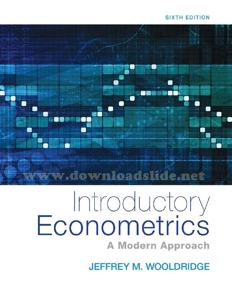 Download Ebook Introductory Econometrics 6th Edition by Wooldridge