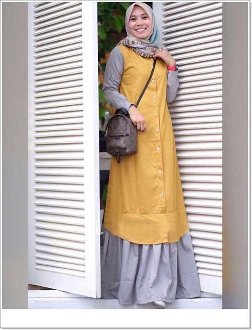 Gamis Polos Modern Bahan Katun Toyobo Faniz Store
