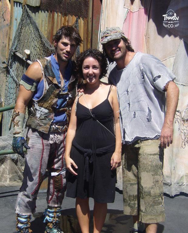 Visita a los Universal Studios en California actores Waterworld