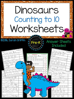 https://www.teacherspayteachers.com/Product/Dinosaurs-Counting-Math-Worksheets-2562693