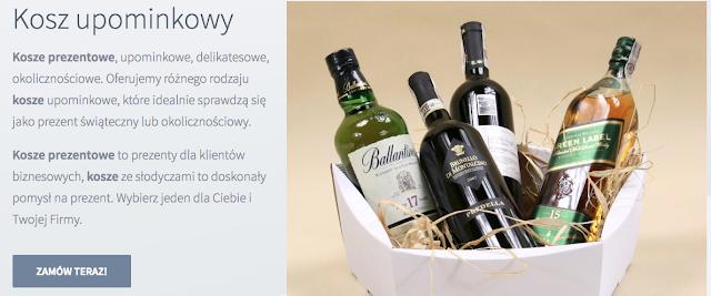 Kosz prezentowy EKO z winem