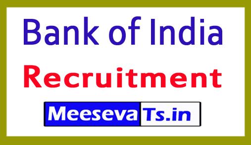 Bank of India BOI  Recruitment