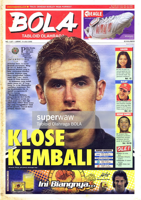TABLOID BOLA: KLOSE KEMBALI
