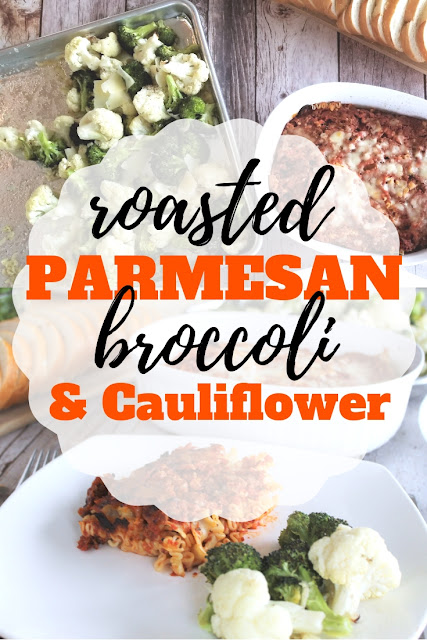 Help make a delicious meal even better with this quick Roasted Broccoli and Cauliflower with Parmesan side dish. @walmart  @magourmetfoods #ad #KitchenCraftedItalian #MichaelAngelosMeals #CollectiveBias