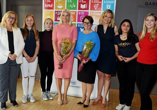 Crown Princess Mette-Marit attended a student seminar about UN Convention on the Rights of the Child held by United Nations Association of Norway