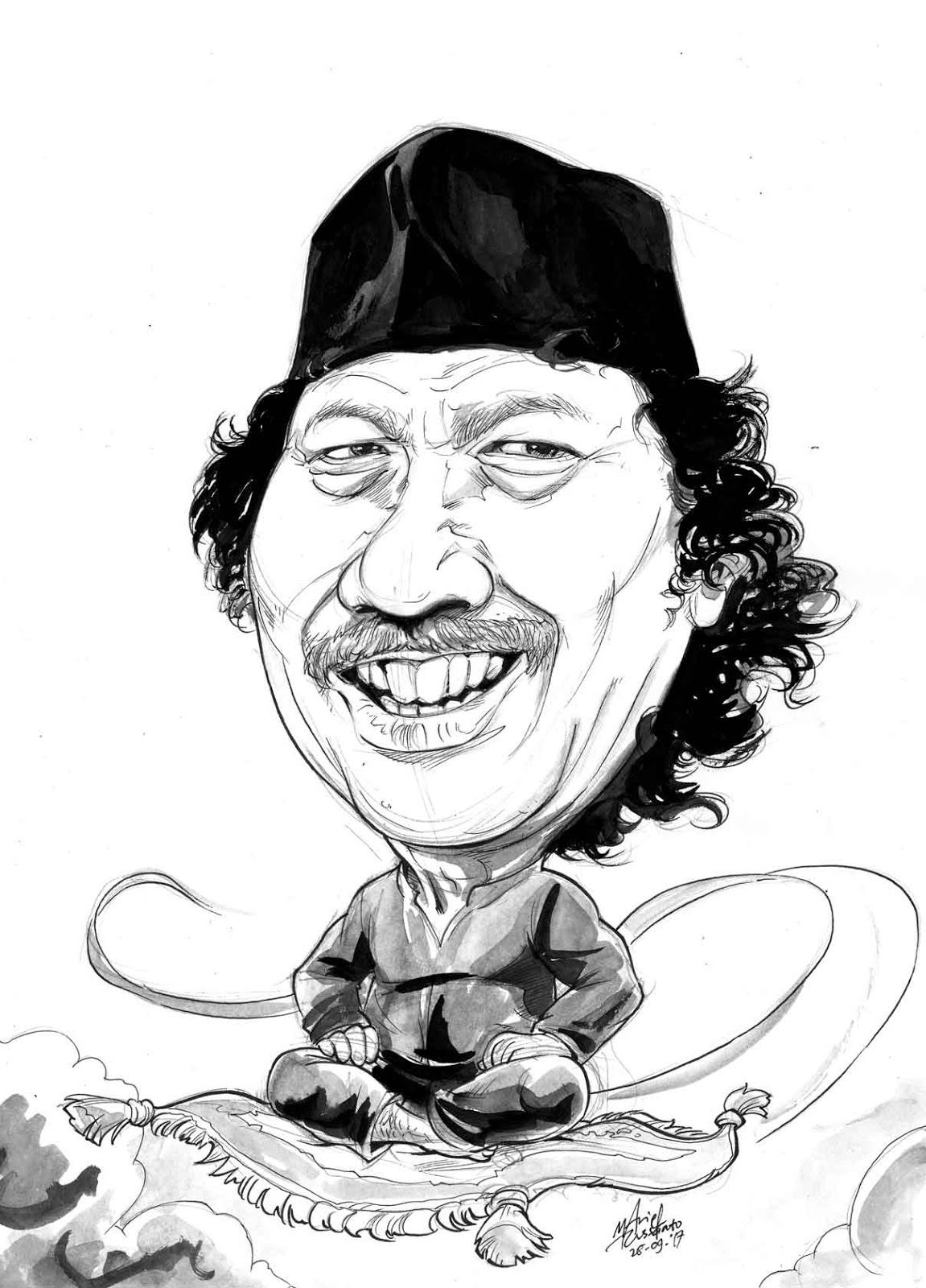 Amel Arief Creative Karikatur Cak Nun