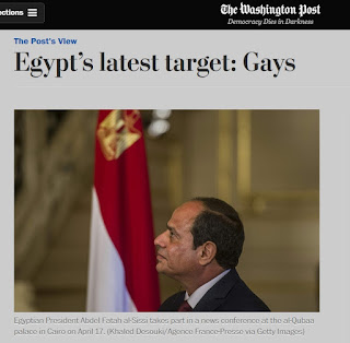 killing gays, washington post, Donald Trump's Bromance: Psychopath Killer Egypt's Bloody Sisi's state-sponsored persecution of Gays