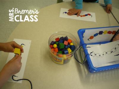 Fun, hands-on math centers for Kindergarten!