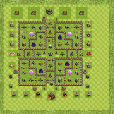 War Base Town Hall Level 10 By mafiya (888 TH 10 Layout)