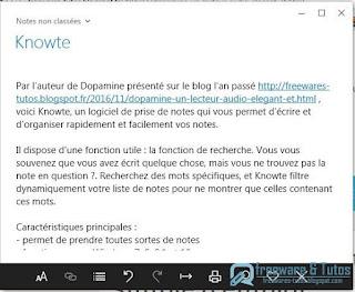 Knowte : un logiciel de prise de notes