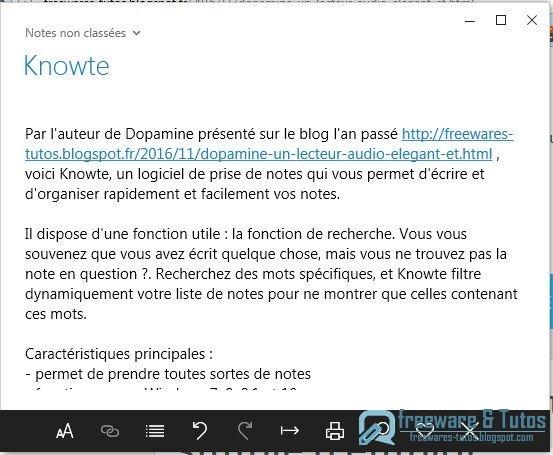 Knowte : un logiciel de prise de notes élégant