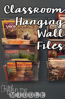 Clear hanging wall files can help you utilize wall space for organization.