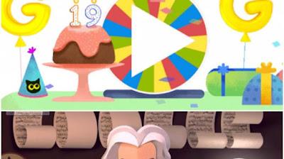 Google Doodle Pemutar Kejutan Ulang Tahun Google, Jangan Lewatkan 19 Hal Seru Ini