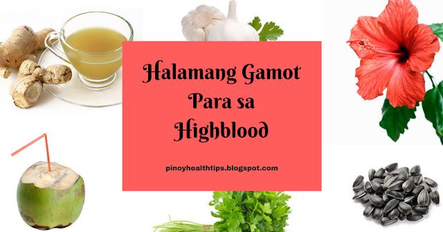 halamang gamot para sa highblood